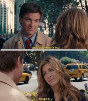 Romantic Scene Jason Bateman Asks Jennifer Aniston To Marry Him On The ...