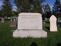 Karl G. Maeser's grave marker
