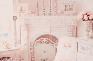 Romantic Pink Fireplace