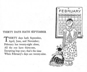 Thirty Days Hath September by katinthecupboard, via Flickr