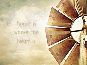 Old Windmill Photo Home Quote Photo Home Is by SSCphotography, $27.00