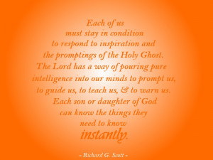 Lds Quotes On Hope Holy ghost quote lds