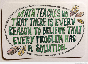 Quotations about math