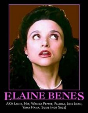 Seinfeld Elaine Benes nicknames motivational parody poster art print