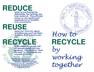 reduce reuse recycle recycle