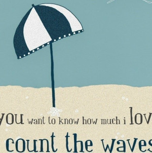 you want to know how much i love you | count the waves | Etsy
