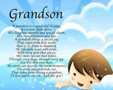 Grandson Birthday Poems Personalised grandson poem
