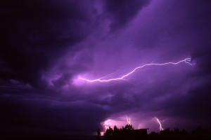 Photo Lightning Bolts Blue