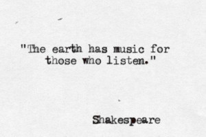 quotes about life the earth has music for those who listen Quotes ...