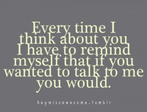 ... not talk to you but i just have to wait it out for you to talk to me