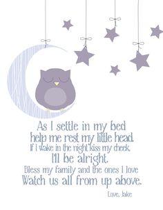 ... nursery $ 14 00 via etsy more bedtime quotes children prayer bedtime