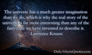 Lawrence Krauss – The universe has a much greater imagination