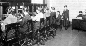 American women serving in France as phone operators.