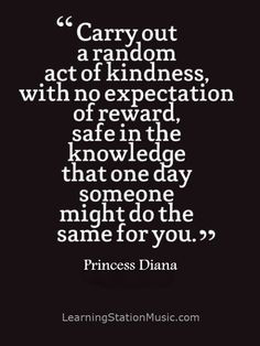 random act of kindness is a selfless act performed by a person to ...