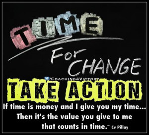 Time for change - Money Quote.