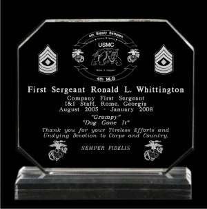 Going Away Plaque Quotes USMC