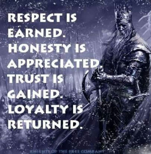Respect. Honesty. Trust. Loyalty.