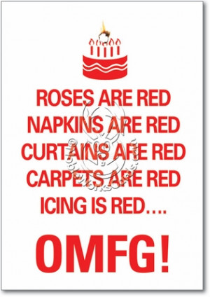 Icing Is Red Hilarious Birthday Greeting Card