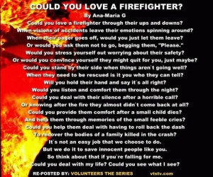 To love a firefighter..