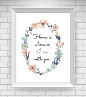 Home Sweet Home Print - Love Quote Print - Whimsical, Colorful Wall ...