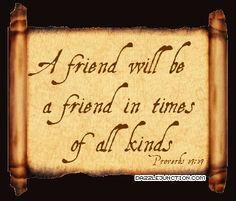 Bible Verses About Friendship | Bible Verse Comments, Images, Graphics ...