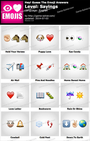 Hey Guess The Emoji Sayings Answers