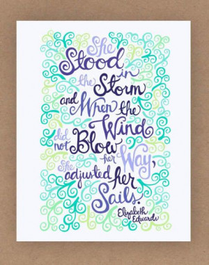8x10in Elizabeth Edwards Quote Illustration by unraveleddesign, $25.00