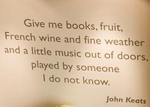 John Keats- shut up he's my all time fav!