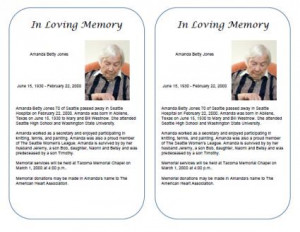 Sample Obituary Examples