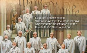 Ezra Taft Benson asked: