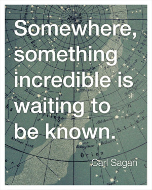 ... , something incredible is waiting to be known.