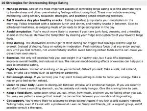 10 strategies to overcome binge eating