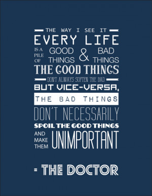 Quote Doctor Who Matt Smith Typography Print
