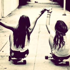 best friends #photography #holding hands #hipster #skaters #longboard ...