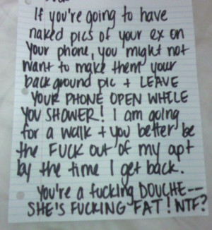 Ridiculious Break Up Letters