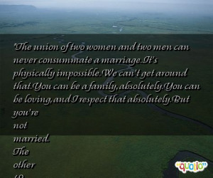 The union of two women and two