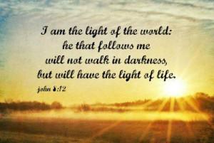 Light World Print John 8 Art Scripture Quote Christian Nature Bible ...