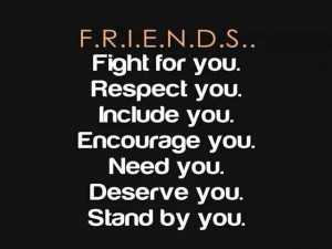 You find out who your friends are.