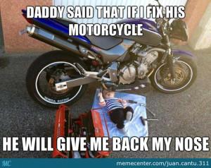 Baby Fixing Motorcycle