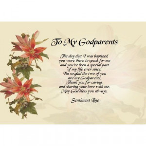 To My Godparents Personalised Poem Gift Print