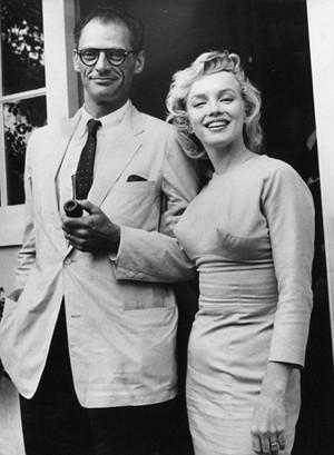 Arthur Miller and Marylin Monroe