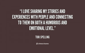 love sharing my stories and experiences with people and connecting ...