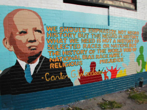 Mural near Woodson's former home in the Shaw neighborhood of ...