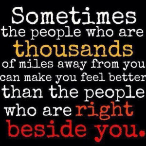 ... Make You Feel Better Than the People Who Are Right Beside You ~ Life