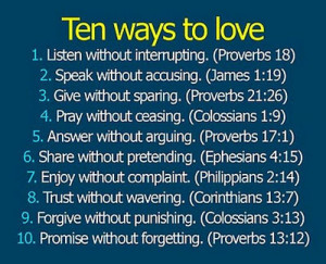 ... love, unconditionally. Teaching a child to forgive and forget others