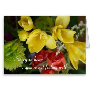 Wishing you a speedy recovery- pretty flowers card