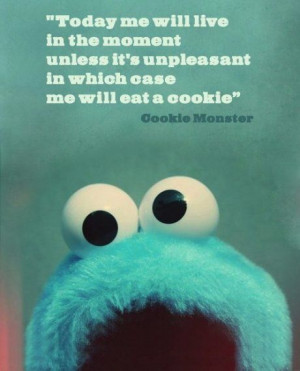 Me eat a lot of cookies