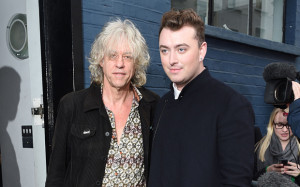Bob Geldof, seen here with Sam Smith at the Band Aid 30 recording, has ...