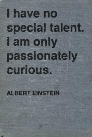 albert einstein talent