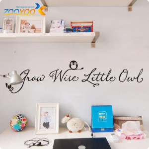 Owl English Quote Vinyl Wall Decals Original Design 2013 Wall Stickers